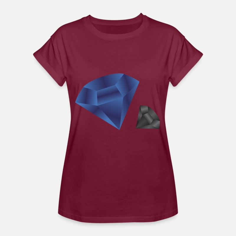 Saphir T-shirts - Blue Diamond Dark - T-shirt oversize Femme bordeaux
