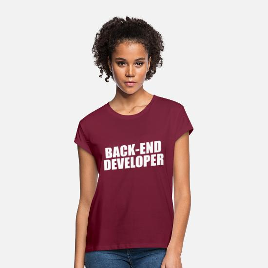 Backhand T-Shirts - back end - Women's Loose Fit T-Shirt bordeaux