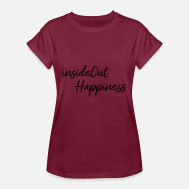 Happiness InsideOut Happiness - Oversize T-skjorte for kvinner