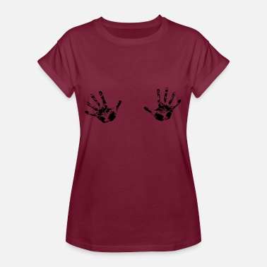 Boobs Picture Breasts Tits Boobs Grabbers Funny Gift - Women's Oversize T-Shirt