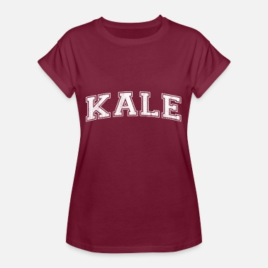 Yale Kale lettering as at the American college - Women's Oversize T-Shirt