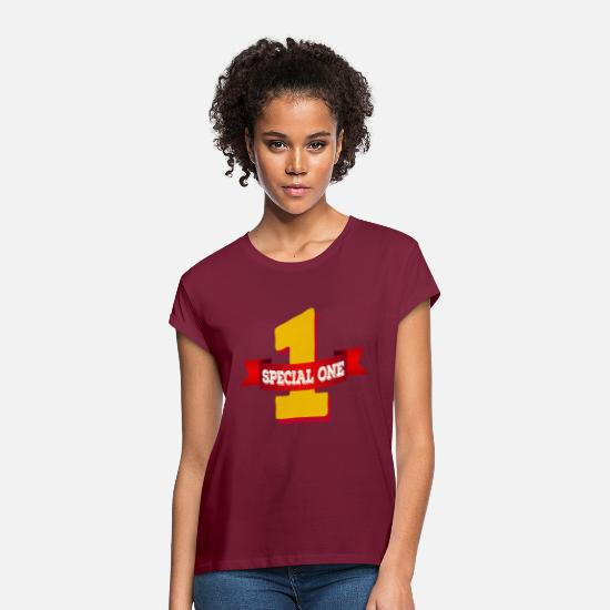Special Forces T-Shirts - Special One - The special number one - Women's Loose Fit T-Shirt bordeaux