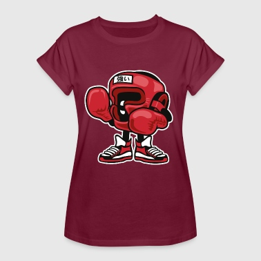 CARTOON BOXER - Comic und Cartoon Motiv Shirt - Frauen Oversize T-Shirt
