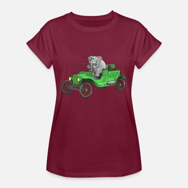 Cars Cartoon Vintage car cartoon funny - Women's Oversize T-Shirt