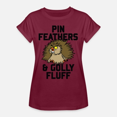 Archimedes Archimedes - Pin feathers and golly fluff - Camiseta holgada de mujer