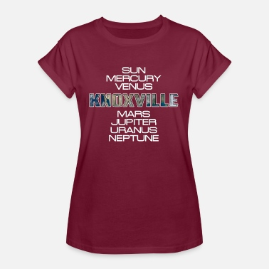 Knoxville Solar System Planet Earth Knoxville Gift - Women's Oversize T-Shirt