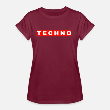 Simple-swag Techno Simple Simples Rave Shirt - Women's Oversize T-Shirt
