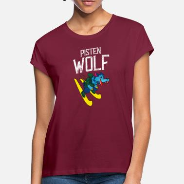 Slope Skiing on slopes - Women's Loose Fit T-Shirt