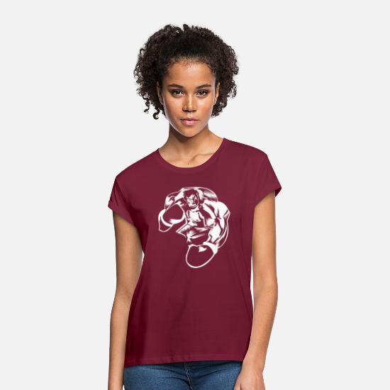 Kö T-Shirts - Boxing boxing boxing champion boxer - Women's Loose Fit T-Shirt bordeaux