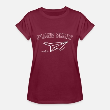 Residentie Just A Plane Shirt Gift - Vrouwen oversize T-shirt