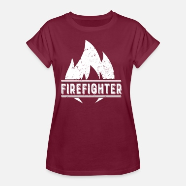 Fire Brandmand Fighting Fire Fire Fire - Dame oversize T-shirt