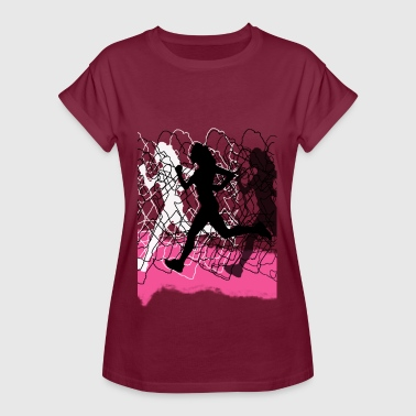 run like a girl - Vrouwen oversize T-shirt