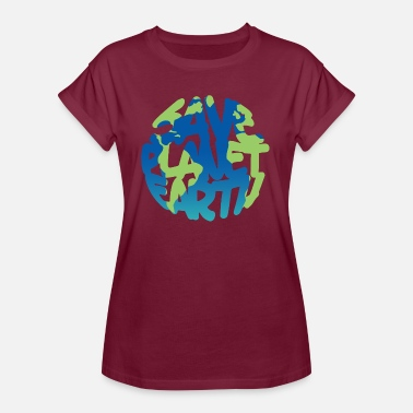 Earth Positive SAVE Planet Earth (Vivid) - Camiseta holgada de mujer