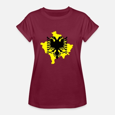 Kosovo Albanians Albanian eagle with included kosovo outline - Women's Oversize T-Shirt