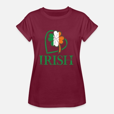 I Love Ireland Irish I love Ireland and Irish signs and colors - Women's Oversize T-Shirt
