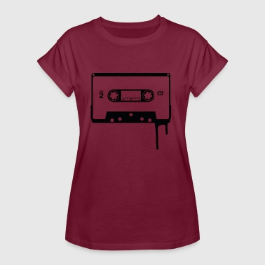 Old School Techno Old School Audio Cassette - Women's Oversize T-Shirt