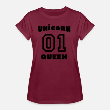 Kroon Queen Unicorn Queen met kroon - Vrouwen oversize T-shirt