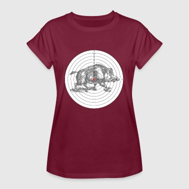 Hunting target with a wild boar - Women's Oversize T-Shirt