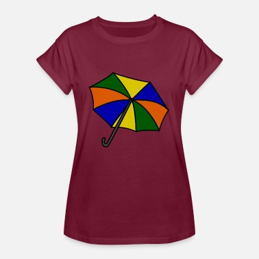Beach Umbrella umbrella - Women's Oversize T-Shirt