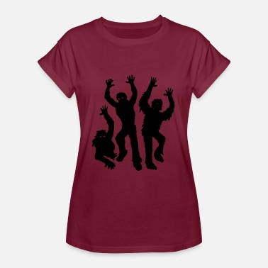 Achtung Zombie Zombies - Frauen Oversize T-Shirt