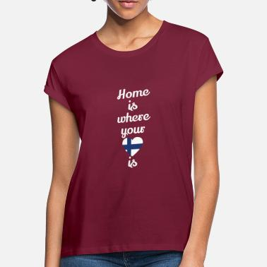 Finland gift home heart love love Finland - Women's Loose Fit T-Shirt