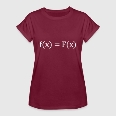 DERIVATION = TRIBUTE FUNCTION - f (x) = F (x) - Koszulka damska oversize