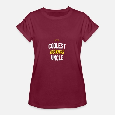 Boxing Uncle Distressed - COOLEST BOXING UNCLE - Women's Oversize T-Shirt