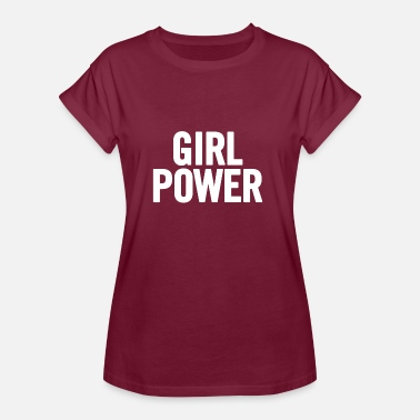 White Power Girl Power White - Naisten oversized-t-paita