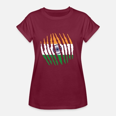 Indische India Claw klauw inheemse oorsprong India png - Vrouwen oversize T-shirt