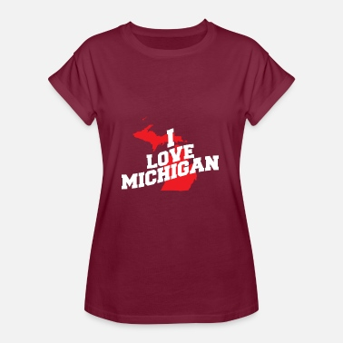 Michigan Jeg elsker Michigan - Dame oversize T-shirt