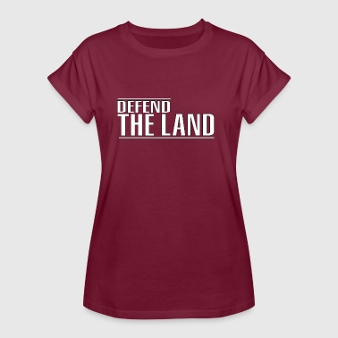Defend the land - Women's Oversize T-Shirt