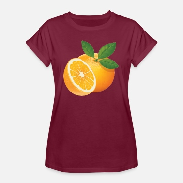 Orangen Orange - Frauen Oversize T-Shirt