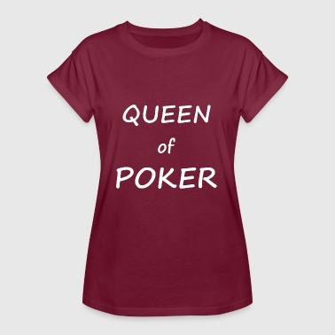 Queen of Poker - Pokerin Cool T-paita Design - Naisten oversized-t-paita
