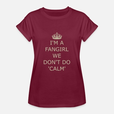 Cheer Sport Fangirl Keep calm sport cheer crown - Women's Oversize T-Shirt