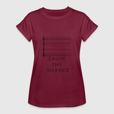 Silence ENJOY THE SILENCE MUSIC MUSIC KEY REST - Women's Oversize T-Shirt