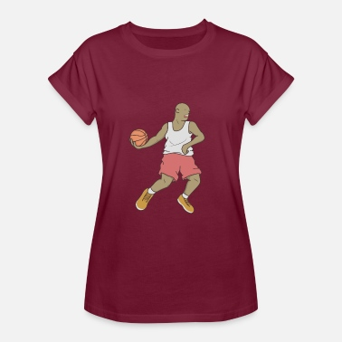 Crossover Basketball Player Crossover Sports Jersey - Women's Oversize T-Shirt