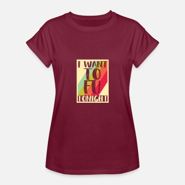 Quark Tofu vegetarian vegan bean quark - Women's Oversize T-Shirt