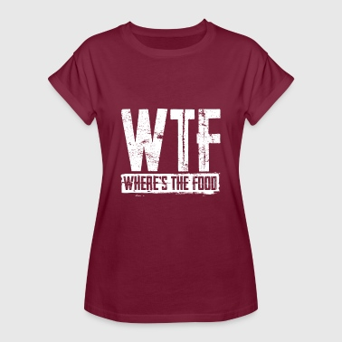 WTF Where's The Food - Women's Oversize T-Shirt