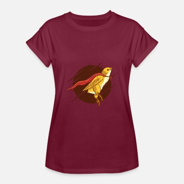 Super Tof Super Bird, Super Chicken, - Vrouwen oversize T-shirt