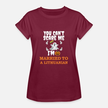 Lithuania Can't scare me I'm Married to a Lithuanian Halloween Lithuania - Women's Oversize T-Shirt