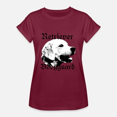 Hundemotiv Hundekopf Retriever Bodyguard ,Golden Retriever Hundekopf - Frauen Oversize T-Shirt
