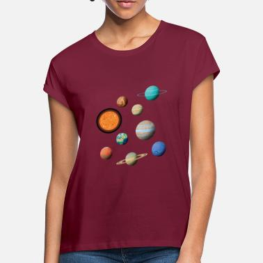 Solar System Space Solar System Universe Planet - Women's Loose Fit T-Shirt