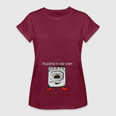 Maternity Bun In The Oven Funny Pregnant T shirts  - Women's Oversize T-Shirt