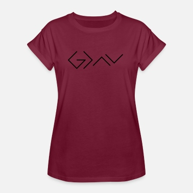 God God is greater than the highs and lows. - Frauen Oversize T-Shirt
