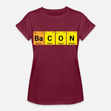 The Elements Of Bacon Bacon chemistry elements - Women's Oversize T-Shirt