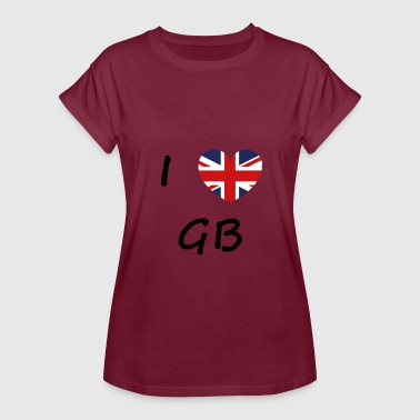 Gb I love GB / I love / Souvenir / Great Britann - Women's Oversize T-Shirt