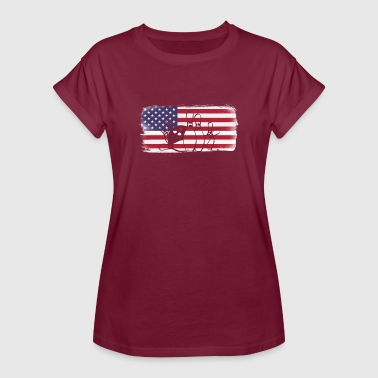 American Flag Bowling - Vrouwen oversize T-shirt