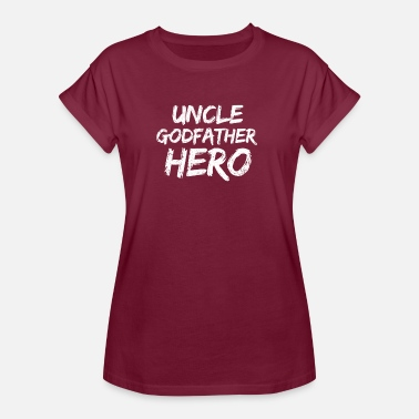Niece Uncle Uncle Uncle Godfather hero nephew niece gift - Women's Oversize T-Shirt