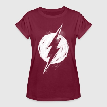 The Flash white milk Logo - T-shirt oversize Femme