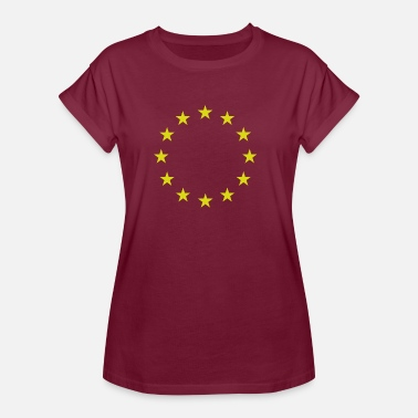 Europe I Love Eu Europe | EU | stars - Women's Oversize T-Shirt